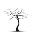 silhouette tree without leaves vector image vector image