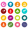 space icons many colors set vector image