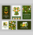 st patricks day greeting card flat vector image
