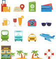 travel icon flat style vector image