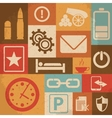 Universal Retro Icons For Web and Mobile vector image vector image