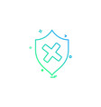 Unprotected sheild icon design