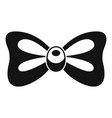vintage bow tie icon simple style vector image
