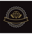 vintage jewerly logo design element vector image vector image