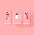 wedding preparation barchelorette party mobile app vector image vector image