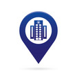 hospital map pointer icon marker gps location vector image