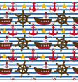 seamless nautical pattern vector image