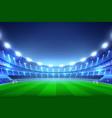 soccer stadium background vector image