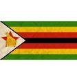 Zimbabwe paper flag vector image