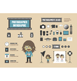 126photographer infographic vector image vector image