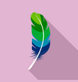 african feather icon flat style vector image