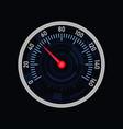 analog car speedometer on white background vector image