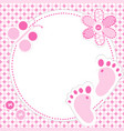 baby girl greeting card vector image