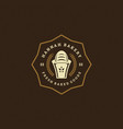 bakery logo or badge vintage vector image