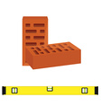 Brick and consturction level vector image vector image