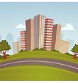 Cartoon Cityscape vector image vector image