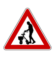 Caution elderly people vector image