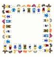 Children frame vector image