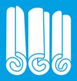 cinnamon sticks icon white vector image vector image