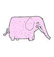 comic cartoon funny elephant vector image vector image