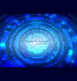 concept digital technology background digital vector image vector image
