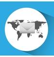 concept globe message envelope social media vector image vector image