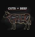 cow butcher cut beef chalkboard scheme vector image vector image