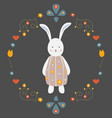 cute bunny character for cards t-shirts easter vector image vector image