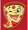 cute pizza vector image