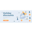 discount coupon banner vector image