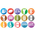 Flat bear icons vector image vector image