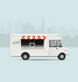 food truck flat styled vector image vector image