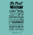 hand lettering the fruit of the spirit vector image vector image
