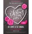 happy valentines day party poster vector image