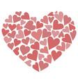 heart consisting hearts vector image