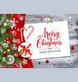 holiday winter template vector image vector image