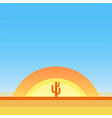 hot desert - cartoon landscape with copy vector image
