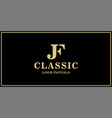 jf monogram classic logo design inspiration vector image vector image