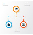 job icons set collection of diagram payment vector image vector image