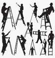 ladder silhouettes vector image