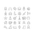 line icons day russia vector image vector image