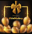luxury happy birthday design vector image vector image