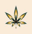 marijuana leaf or cannabis leaf weed icon vector image