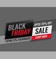 modern black friday sale banner design vector image