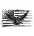 monochromatic american eagle vector image vector image