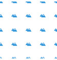 mountain icon pattern seamless white background vector image vector image
