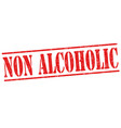 non alcoholic sign or stamp vector image vector image