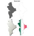 Nuevo Leon blank outline map set vector image vector image