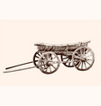 old wooden cart vector image vector image