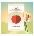 pack tomato seeds vector image